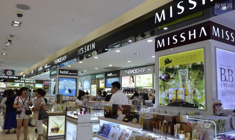 韩国免税店3月份销售额骤减