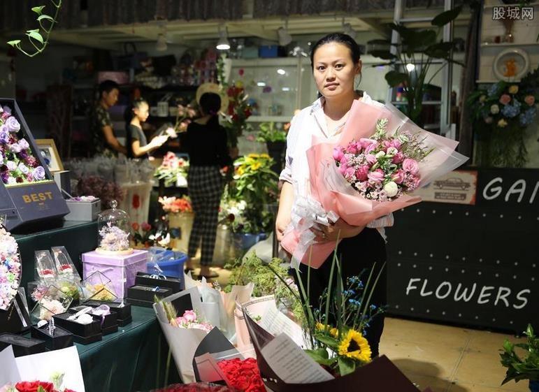 七夕卖花日入10万 赚到了白领一年的工资