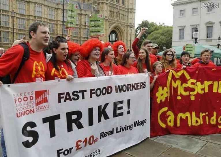 麦当劳员工罢工
